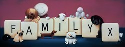 Family by Doug Hyde -  sized 39x15 inches. Available from Whitewall Galleries